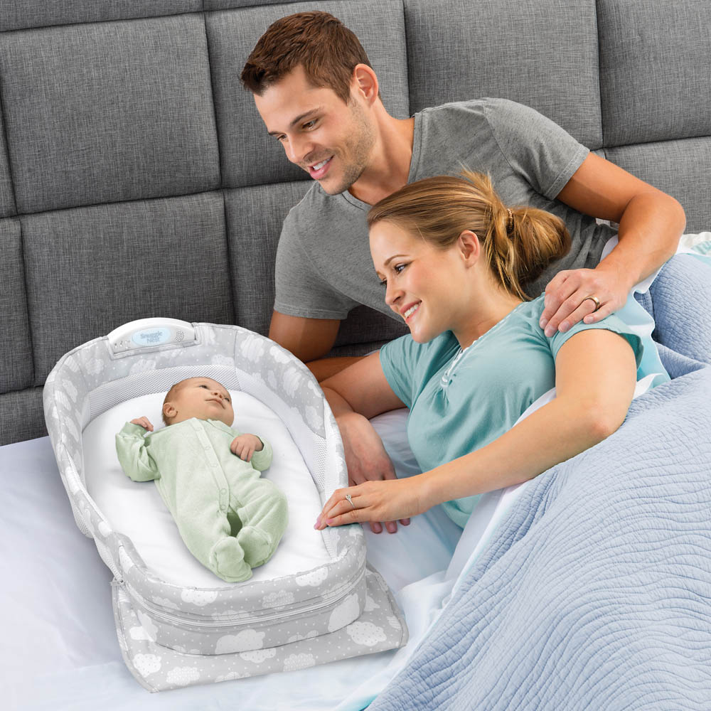 Snuggle Nest Harmony Infant Sleeper Silver Clouds