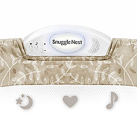 baby-delight-snuggle-nest-comfort-infant-sleeper-taupe-leaves-music