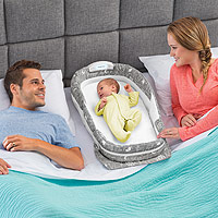 Snuggle Nest Surround Xl Infant Sleeper Grey Elefontes