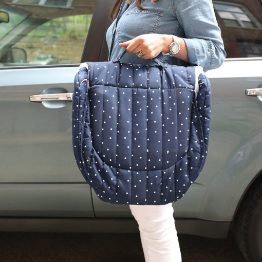 Baby Delight Navy Dots Snuggle Nest Carrying Case