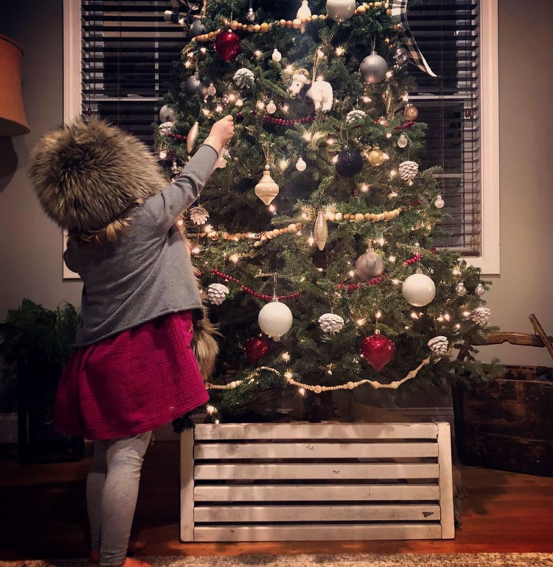Christmas Tree and Toddler