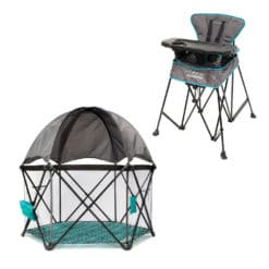 eclipse playard and uplift portable highchair bundle
