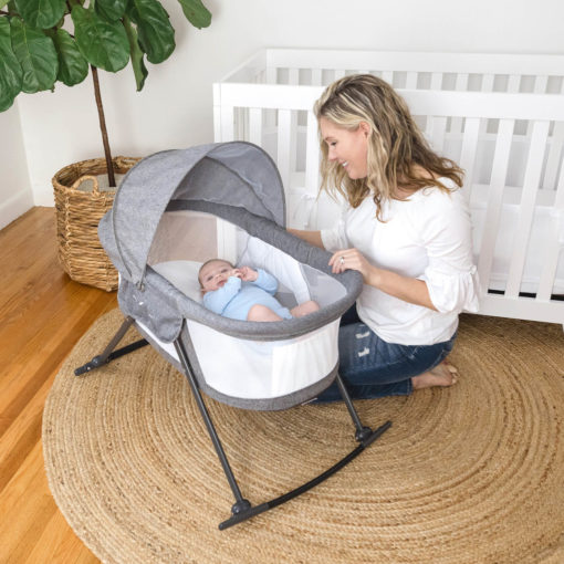 Go With Me Slumber Bassinet Baby and Mom