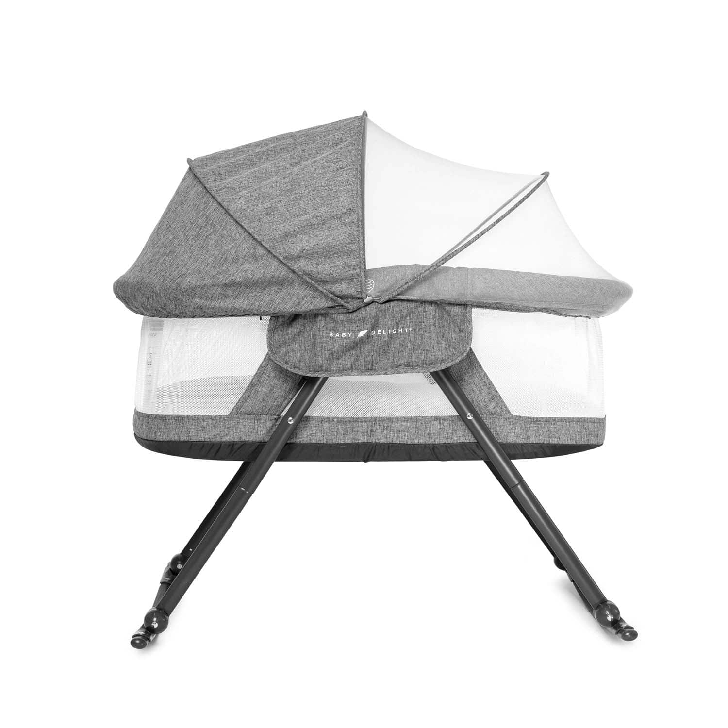 Hankyky Baby Easy to-Go Snuggle Bassinet for Baby Sleep Foldable Baby Backpack Bed with Mosquito Canopy for Travel for Sleep