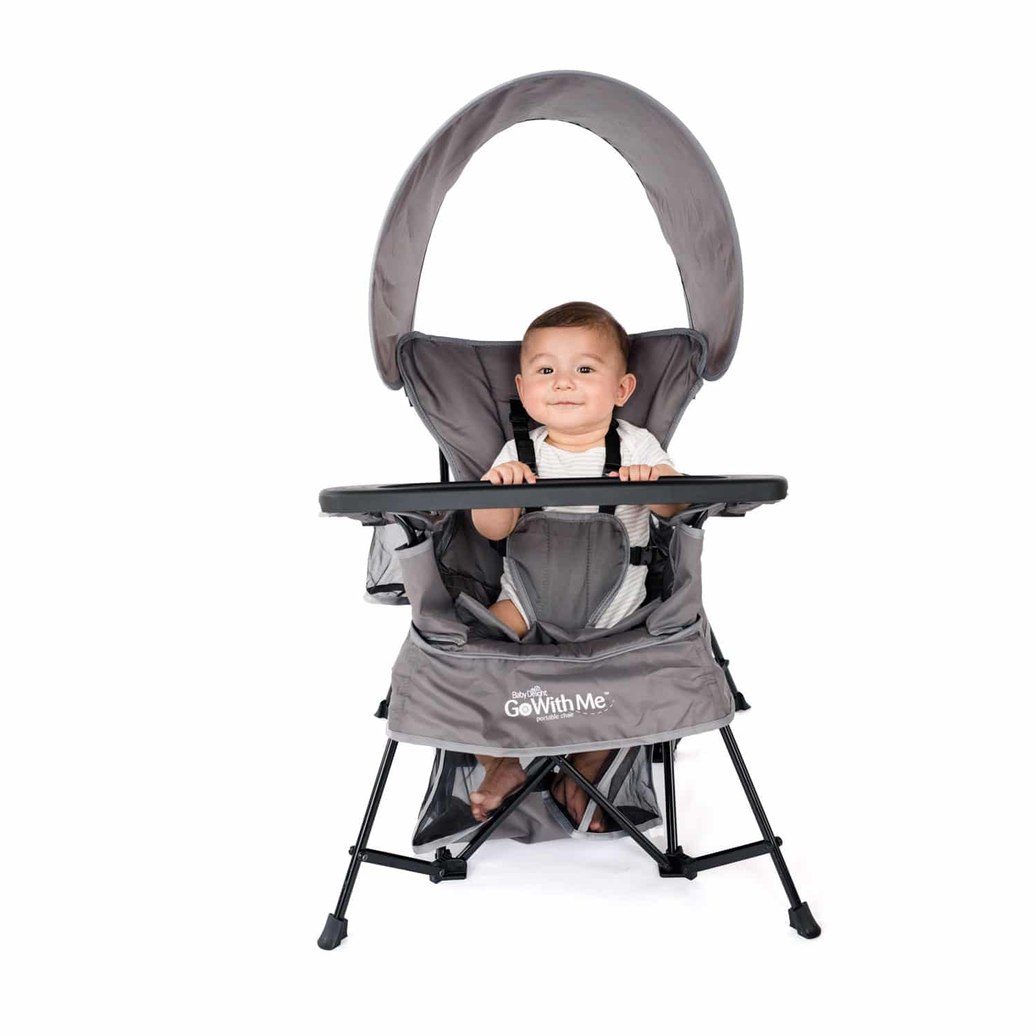 Go With Me Venture Deluxe Portable Chair Grey Baby