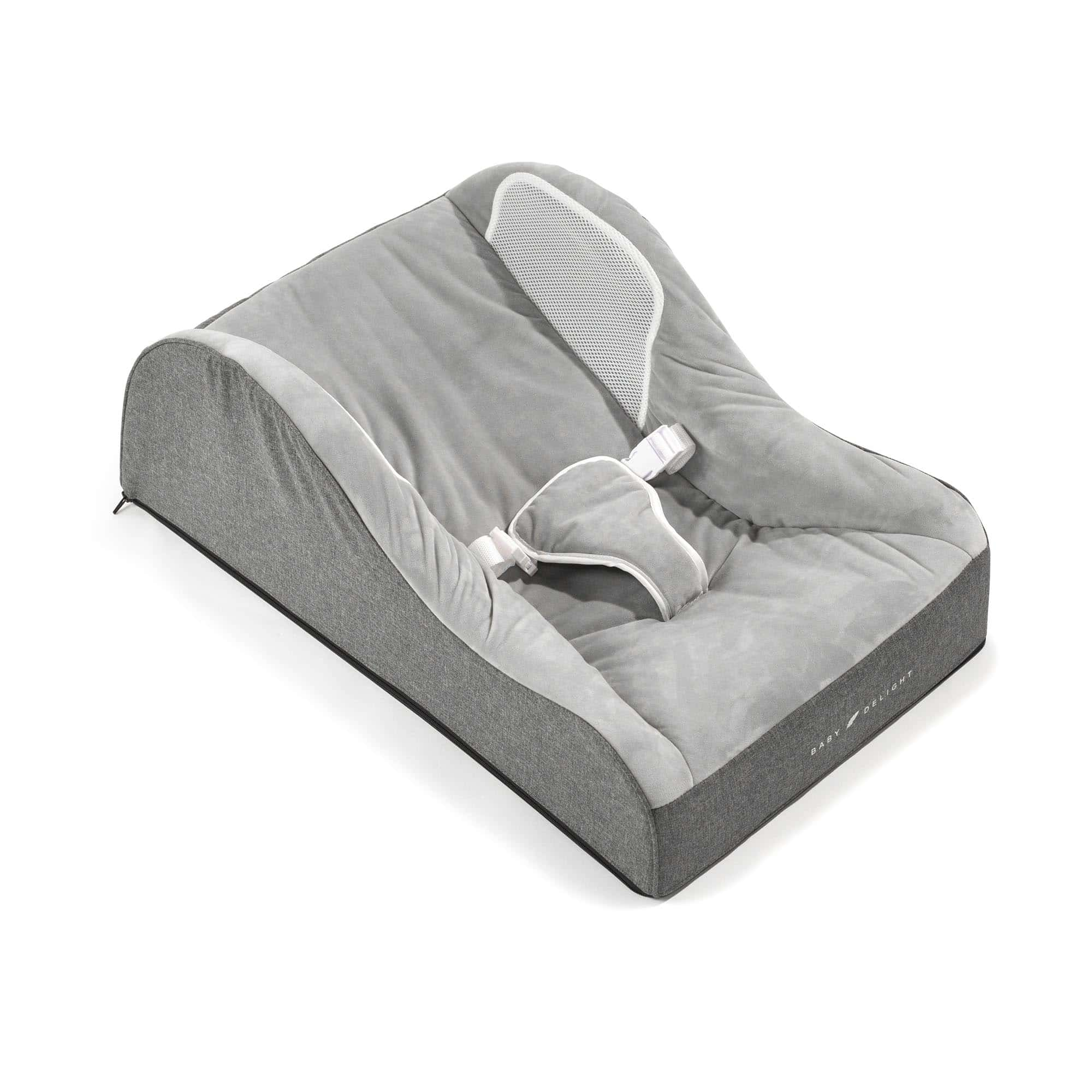 Nestle Nook Portable Infant Lounger Charcoal Tweed Baby Delight Inc