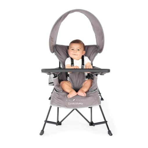 Baby Delight Go With Me - Grey Jubilee Chair and boy