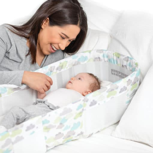 Snuggle Nest™ Dream Portable Infant Sleeper – Sleepy Skies