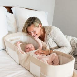Snuggle Nest™ Organic Portable Infant Sleeper – Oatmeal