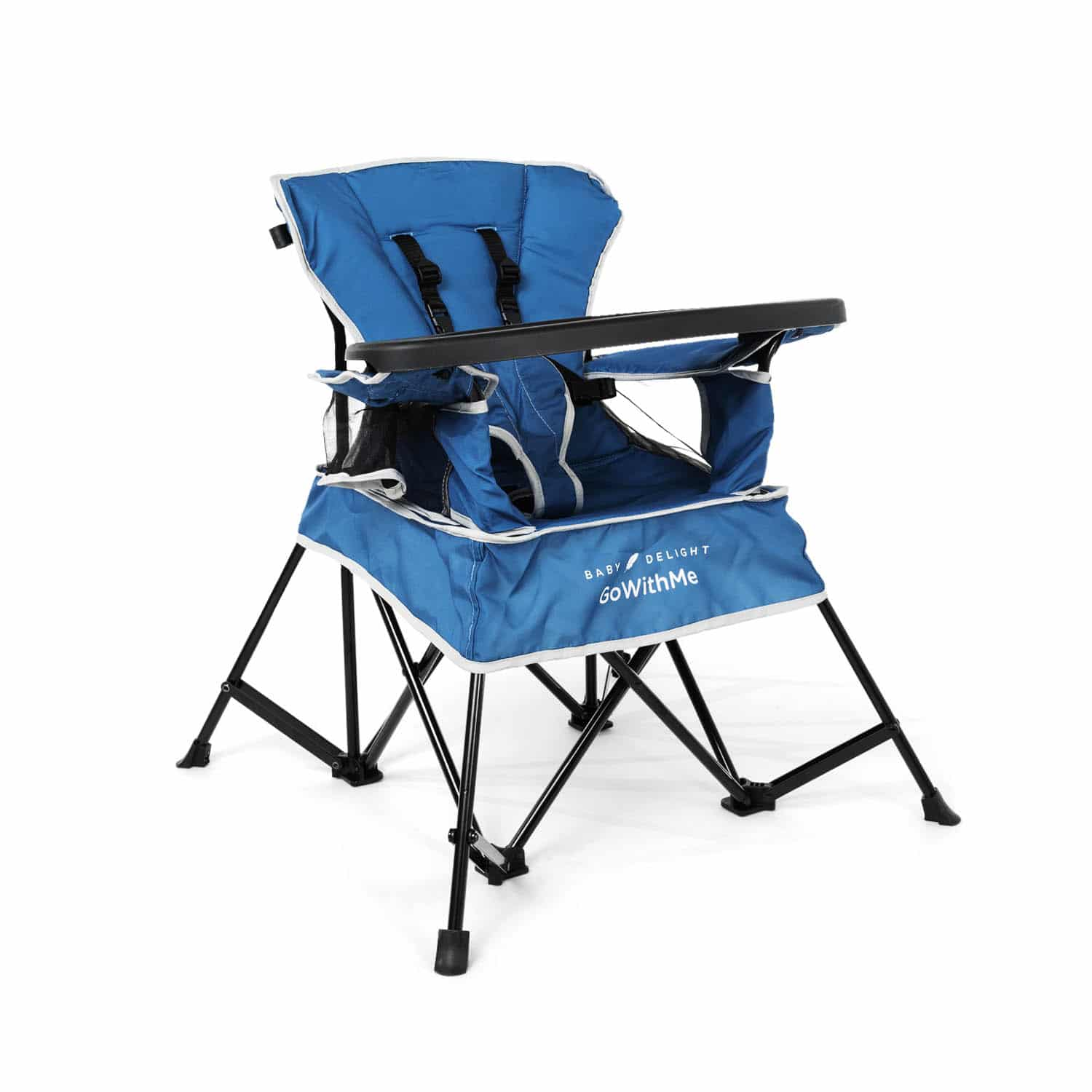 Deep Water Blue Baby Delight Go with Me Chair Indoor//Outdoor Chair with Sun Canopy Portable Chair Converts to 3 Child Growth Stages Standing /& Big Kid 3 Months to 75 Pound Weather Resistant Sitting